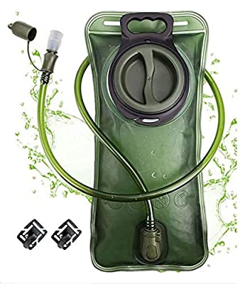 CREATED Hydration Bladder 2 Liter,Leak Proof Water Bladder,Hydration Pack Replacement,Water Reservoir for Hiking Biking Climbing Cycling Running,BPA Free