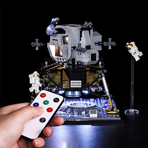 RAVPump LED Lighting Kit for NASA Apollo 11 Lunar Lander Blocks Model - LED Light Set Compatible with Lego 10266 ( Not Included The Model)