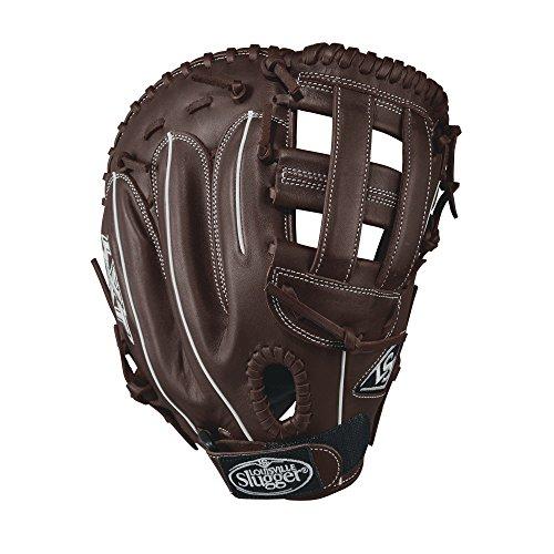 Louisville Slugger LXT First Base Gloves, Right Hand, 13', Dark Brown/White
