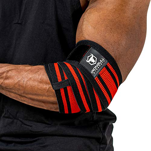 Iron Bull Strength Elbow Wraps for Weightlifting - PRO Line - Workout...