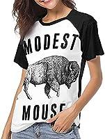 ボディービルモデストマウスユニークなデザインの女性の半袖TシャツパーソナライズされたファッションのカスタマイズT-Shi-Medium