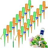 Philonext 18 Pcs Riego por Goteo Automático Kit,Ajustable Piezas Riego por Ggoteo Spike Sistema de Irrigación para Jardín Bonsáis y Flores, Ideal Dispositivo de Irrigación Automático en Vacaciones
