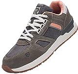 Zapatos de Seguridad Mujer,L9123 SB SRC Zapatillas de Trabajo con Punta de Acero Suave y cómodo Antideslizante 37 EU,Gris