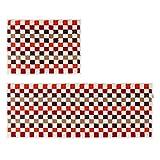 "Clucycia 2 Pieces Non-slip Kitchen Floor Mat Kitchen Doormat Runner Rugs Set 17""*47""+17""*23"""