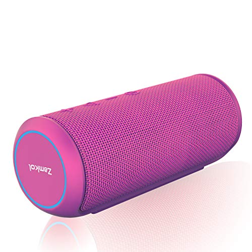 Sale!! Zamkol Bluetooth Speakers Portable Wireless-Purple