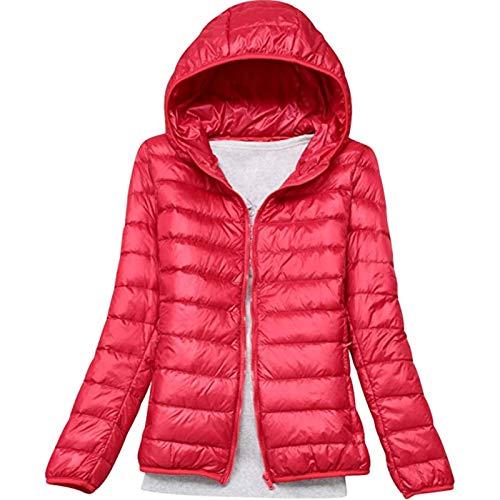 Geilisungren Abrigo de Invierno cálido con Capucha para Mujer Chaqueta Acolchada y...