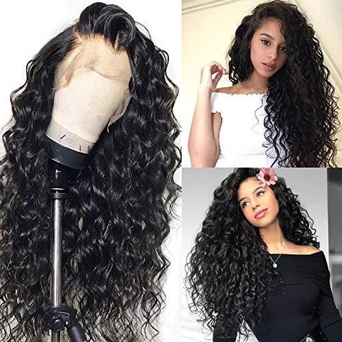 Perruques Avant De Lacet Cheveux Humains, Cheveux Brésiliens Ondulés Avant De Lacet Perruque 150% Densité Bouclés Perruque Adaptée Aux Femmes Noires E