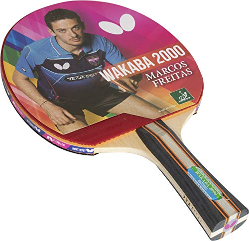 Butterfly Wood Wakaba Table Tennis Racket - 3 Ping Pong Models - ITTF Approved Ping Pong Paddle - Ping Pong Racket Attacks with Great Speed and Spin (Multicolour)