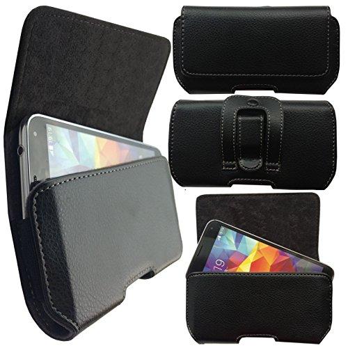 MOELECTRONIX 1A Gürtel Seiten Quer Tasche Belt Cover Case Schutz Hülle Etui passend für HiSense HS-U988