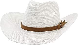 SHENTIANWEI Women Men Western Straw Cowboy Hat Straw Hat Top Hat Outdoor Beach Hat Sunscreen Fashion Sunshade Hat