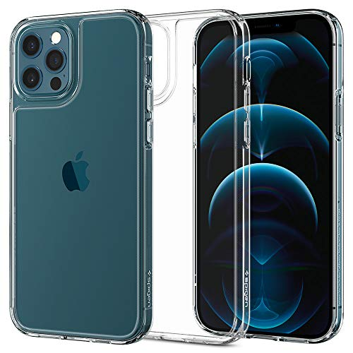Spigen Funda Quartz Hybrid Compatible con iPhone 12 y Compatible con iPhone 12 Pro - Transparente