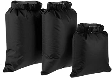 Lixada Waterproof Dry Bags, 3 Pack Ultimate Dry Sack - 3L+5L+8L Lightweight, Roll Top Outdoor Dry Sacks for Kayaking Camping Hiking Traveling Boating Water Sports