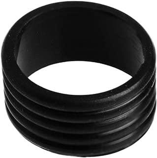 Gracefulvara 2Pcs Stretchy Tennis Racket Handle's Rubber Ring Black