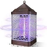 Tueur de moustiques électrique, YUNLIGHTS 9W lampe anti-moustique à LED de 14,1 pouces avec piège à lumière UV pour extérieur / intérieur, avec crochet de suspension, 2000V, prise UE