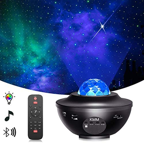 Star Projector Night Light Projector with LED Galaxy Ocean Wave Projector Bluetooth Music Speaker product image
