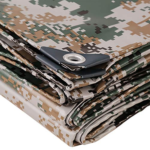 Best Review Of Tarpaulin Camouflage Waterproof, Reversible Tarp Rainproof Cloth Awning Canvas Outdoo...