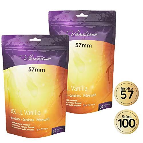 AMOR Vibratissimo 57mm Markenkondome XXL-Kondome, 100 Stück, naturfarben