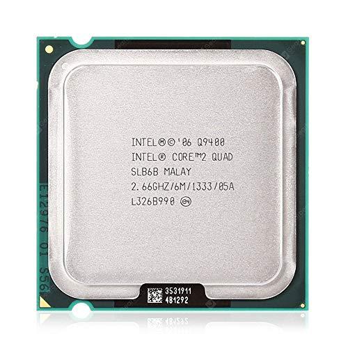 Intel Core 2 Quad Processor Q9400 2.66GHz 6MB L2 Caja - Procesador (Intel Core2 Quad, 2,66 GHz, LGA 775 (Socket T), 45 NM, Q9400, 64 bits)