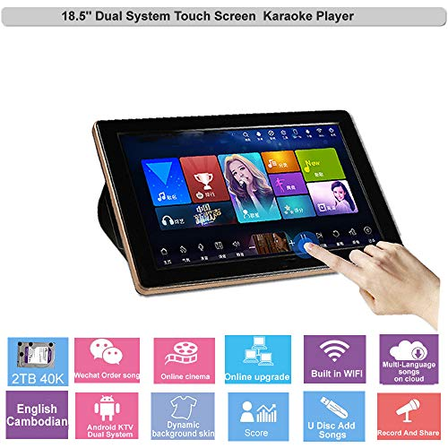 Great Price! HAJURIZ 18.5'' Touch Screen Karaoke Player,2TB HDD With English,Cambodian Songs,240K Mu...