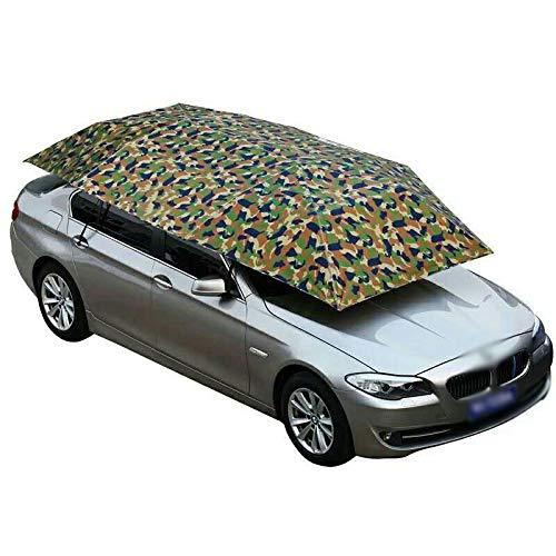 Lixiabeidai Auto Markise Zelt Auto Regenschirm Zelt Auto Dachzelt Auto Zelte Halbautomatische Auto Dachzelte Für Sonnenschutz Staubschutz Und UV-Schutz,Camouflage-4.2M