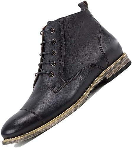 botas De Cuero De Los hombres De Chelsea Derby En Punta Botines Inglaterra botas Martin Alta Casual Transpirable Hecho A Mano marrón negro