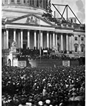 DS Decor Photos Quality Digital Print of a Vintage Photograph - First Inauguration of Abraham Lincoln, 1861. Black & White 11x14 inches - Matte Finish