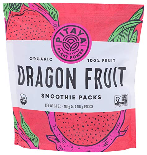 PITAYA PLUS Organic Dragonfruit Superfruit Smoothie Packs, 14 OZ