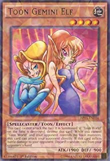 Yu-Gi-Oh! - Toon Gemini Elf (BP03-EN014) - Battle Pack 3: Monster League - 1st Edition - Shatterfoil