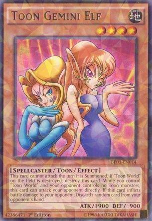 YU-GI-OH! - Toon Gemini Elf (BP03-EN014) - Battle Pack 3: Monster League - 1st Edition - Shatterfoil