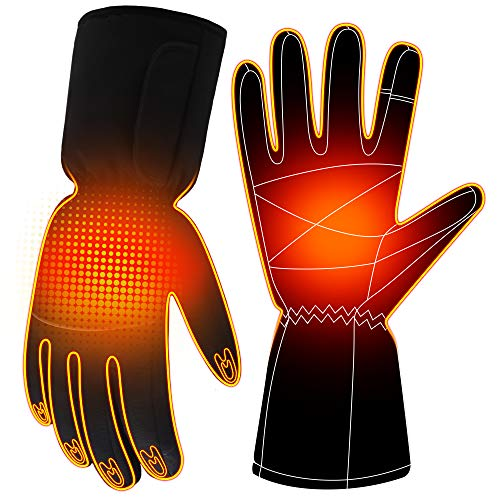 Battery Gloves Electric Heated Gloves for Women Men,Touchscreen Texting Water-resistant Thermal Gloves,Battery Powered Electric Heated Ski Bike Motorcycle Warm Gloves Hand Warmers,Winter Thermo Gloves