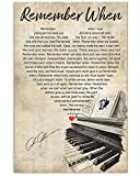 XFast Store Alan-Jackson Remember When Lyric Song Gift Fan Signed Funny Wall Art Gifts Lovers Poster