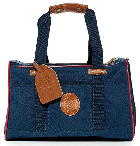 Sherpa Element Standard Pet Carrier Dog Cat Navy w/Red Trim Medium Airline Approved