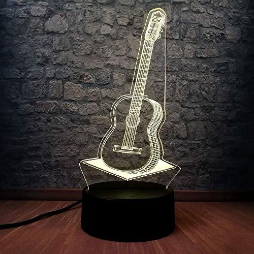 3D Led Nachtlicht Pop Country Musik Gitarre Usb Lampe 7 Farbwechsel Rgb Schlafzimmer Dekor Beleuchtung Musikinstrumentehome Büro Dekorationen Lampe Schrank