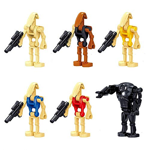 24-Piece Pack Battle Droids with Weapons Set, 6 × 4 Figures, Building Blocks Action Figures Toy, Boys Kids Gift 49n2