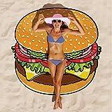 Manta de toalla de playa redonda, Tukistore grande circular Microfibra y gasa Terry playa Roundie círculo Mantas de picnic alfombra de yoga