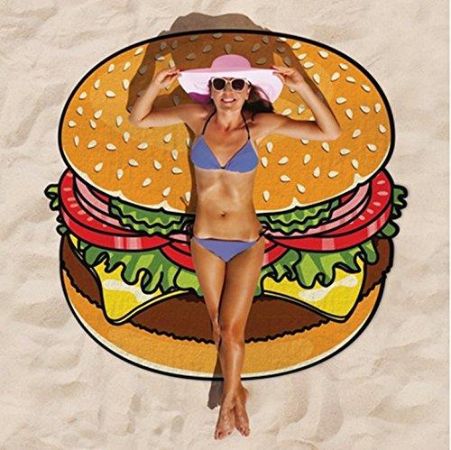 Manta de toalla de playa redonda