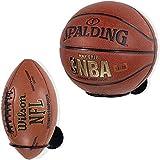 SmallAim Soportes de pared para pelotas de baloncesto, fútbol, voleibol, 2 unidades, color negro