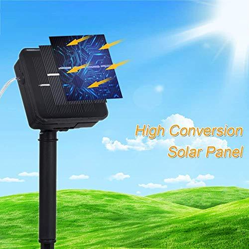 Guirlande d'énergie Solaire 9W 15M / 49.2Ft 150 LED énergie Solaire Fil de cuivre fée Guirlande Lumineuse Cadeau