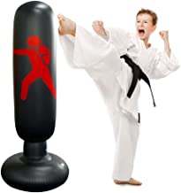 MMA Kids Adults Boxing Toy Tricodale Inflatable Punching Bag Taekwondo 5.2ft Fitness Punch Bags Freestanding Heavy Boxing Bags for Practicing Karate