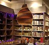 Lámpara de salón de té Lámpara de papel kraft tejida de nido de abeja Zen desnuda Restaurante tailandés Lámpara de salón japonesa de té