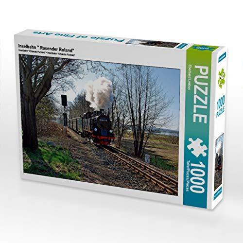 CALVENDO Puzzle Inselbahn  Rasender Roland 1000 Teile Lege-Größe 64 x 48 cm Foto-Puzzle Bild von Marion Ehrhorn
