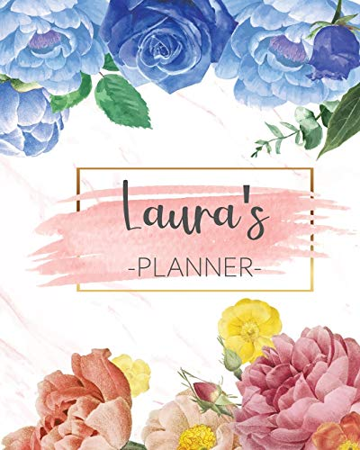 Laura's Planner: Monthly Planner 3 Years January - December 2020-2022 | Monthly View | Calendar Views Floral Cover - Sunday start