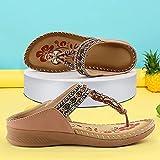DZQQ Sandalias de Verano para Mujer, Zapatos de Playa Suaves y Ligeros con Estampado de Flores, Sandalias Bohemias, Chanclas Antideslizantes de Fondo Grueso, Sandalias para Mujer