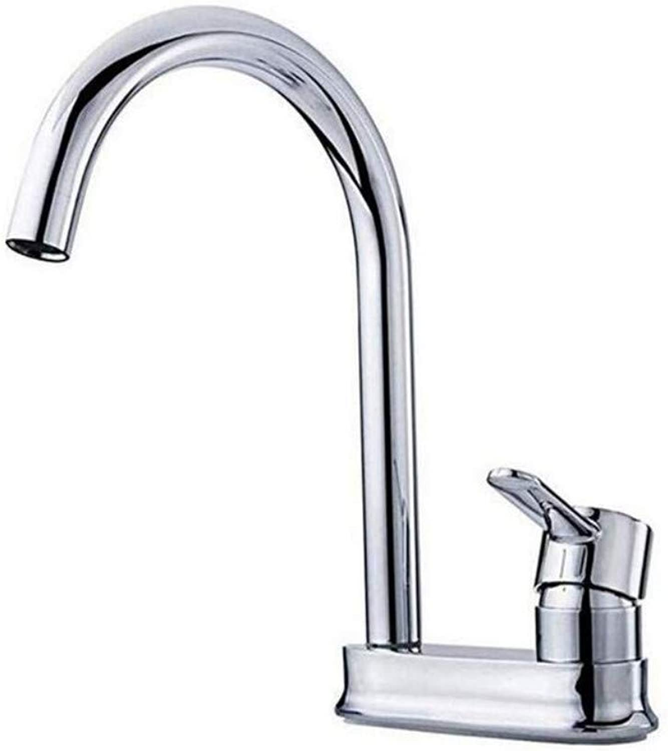 Modern Double Basin Sink Hot and Cold Water Faucetmixing Faucet 360° redating Single Handle Faucet Sink Basin Faucet