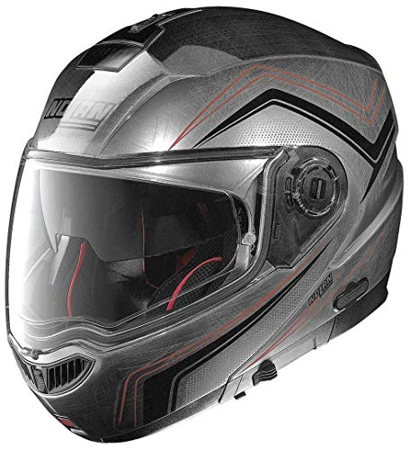 Nolan N104 Absolute Como Klapphelm Motorrad Polycarbonat n-com - verkratztes Chrom Größe S