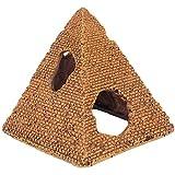 SMZsmz Decoraciones De Acuario Egipcio-Resina Pirámides Egipcias Reptiles Camarones Escondites Decoración De Acuario Adorno Acuario - 11,2X11x12,5 Cm