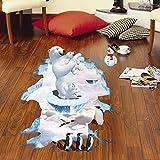 Stickers muraux 3D salon chambre décoration maternelle ours polaire stickers muraux...
