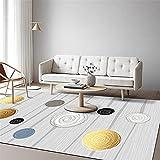 Alfombra Alfombra Dormitorio Juvenil Alfombra Gris de la Sala de Estar Modelo geométrico Amarillo Negro Amarillo Negro alfombras pasilleras Modernas alfombras habitacion 160*230cm
