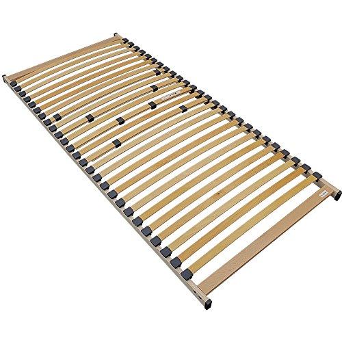 DILUMA Lattenrost Rubin 90 x 200 cm Premium Rollrost zur Selbstmontage mit 26 stabilen und flexiblen Federholzleisten Bettrost mit Mittelzonenverstellung im Beckenbereich