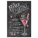 artboxONE Poster 30x20 cm Cocktails Typografie French